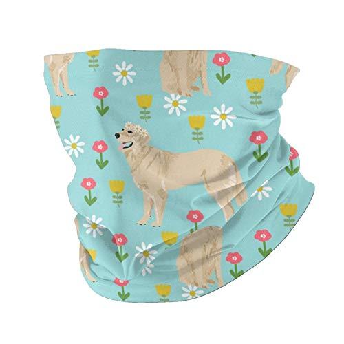 Ccycjasdkfewl Golden Retriever 0 adultos hombres y mujeres cuello polaina cara bandanas al aire libre variedad toalla bufanda con bolsa interior para polvo protección solar adolescentes