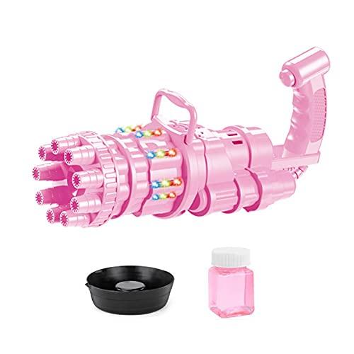 Mimei Maquina Burbujas Niños, Portátil Máquina De Burbujas Automática, Fabricante De Pompas, Soplador De Pompas De Jabón Duradero, Jabón De Burbujas Eléctrico Para Fiestas, Fiestas Infantiles, candid