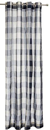 "Lorraine Home Fashions 09570-84-00220 NAVY Courtyard Grommet Window Curtain Panel, Navy, 53"" X 84"""