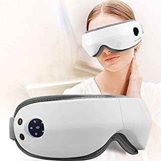 Zerovida Electric Eye Massager, Eye Care Instrument with Air Pressure, Heating,Vibration, Music for Relief Eye Fatigue,Dry Eyes and Dark Circle, Stress Relief Protection Vision Charging Folding