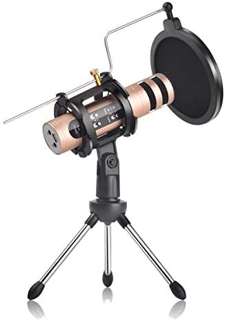 REMALL Recording Microphone with Voice Changer Pop Filter Tripod Stand Studio Recording Mic product image