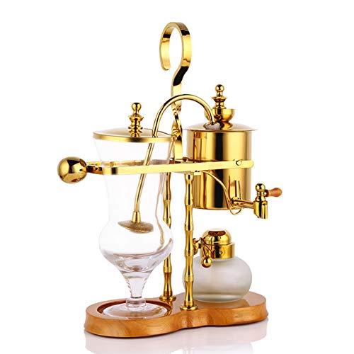 ASDQWER Family Balance Syphon Kaffeemaschine, Luxus Gleichgewicht Syphon Kaffee-Maschinen-Hersteller, Brewer, leicht zu reinigen Dauerfilter und Wasserspeicher