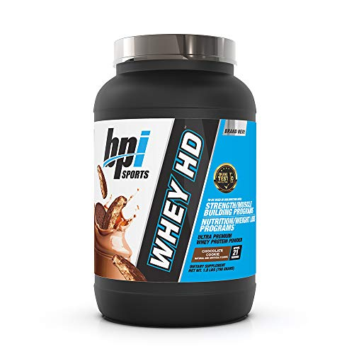 BPI Sports Whey HD Ultra Premium Protein Powder, Chocolate Cookie, 1.8 Pound
