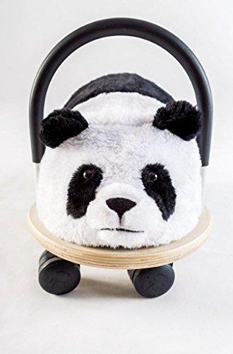 Wheely Bug 4260223371189 51100P Petit Panda en Bois avec Housse résistante sur roulettes avec poignée, Voiture sans pédales pour Beaucoup d'Amusement, Convient à Tous Les Enfants