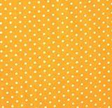 0,5m Stoff Punkte klein Gelb/ Weiß 100% Baumwolle