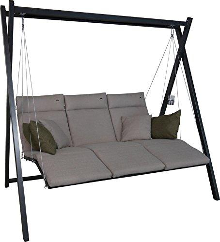 Angerer Relax Hollywoodschaukel 3-Sitzer Smart, sand, 220 x 150 x 210 cm, 7000/269