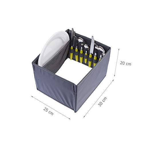 Picknicker für Faltboxen faltbar Polyester Besteckkorb Geschirr Outdoor Party Camping Grillen Reise