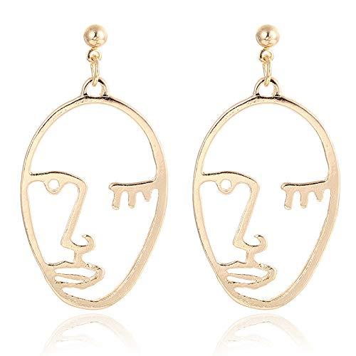 Burenqi oorbellen sieraden oorbel ontwerp holle punk hyperbole oorbel in de vorm van oorbellen met gouden armband