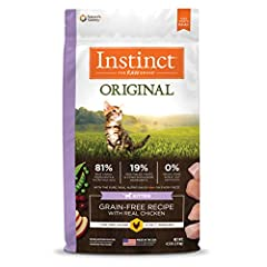 NATURAL KITTEN FOOD: Instinct Original dry cat food for kitten is made with probiotics for digestive & immune health and omegas for healthy skin & soft fur. Made without grain, potato, corn, wheat, soy, by-product meals, artificial colors or preserva...