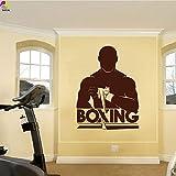 Boxen Kampfsport Wandaufkleber Gym Fitness Boxer Übung Workout Muscle Wandtattoo Vinyl Wandbild 75 cm x 56 cm
