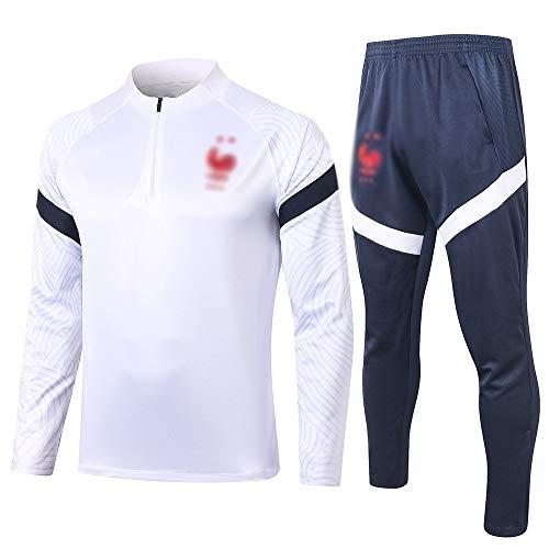 HIAO Camiseta del Club Europeo Entrenamiento de fútbol Traje Club de jóvenes Adultos de Manga Larga con Capucha de la Chaqueta Transpirable Jogging Plus Traje de Pantalones LQ00166 A00201 (Size : M)