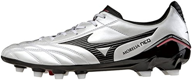 Mizuno Morelia Neo PS Moulded FG Football Boots (Pearl-Black-Red)