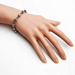 Skull Silver Link Bracelets Thomas New 925 Sterling Silver Fashion Jewelry Punk Gift Fit Ts Beads For Women Men 22cm #3