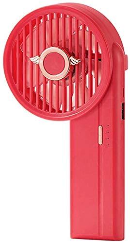 WNTHBJ Mini ventilador portátil recargable USB ajustable de mano libre ventilador de refrigeración con banco de energía pequeña unidad de aire acondicionado portátil