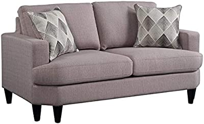 Amazon.com: Coaster Watsonville Tufted Sofa in Gray and ...