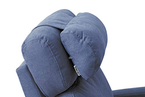Finlandic luxuriöse Orthopädische Nackenkissen von hoher Qualität - Blau - Nackenkissen mit Kontragewicht und auf jedem Sitz verwendbar - ist einfach einstellbar/verstellbar