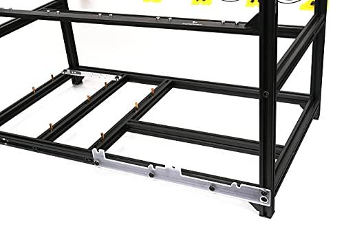 Veddha V3C 6-GPU Mining Case Aluminum Stackable Mining Rig Open Air Frame Case with Fan Mount - Ethereum(ETH,ETC)/ZCash(ZEC)/Monero(XMR)/Bitcoin(BTC)/Siacoin(SC)