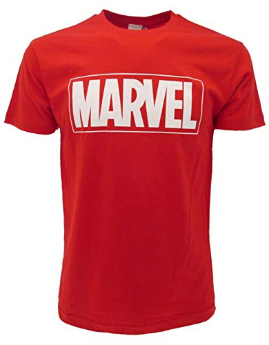 Marvel - Camiseta de manga corta con logo oficial (XXL), color rojo