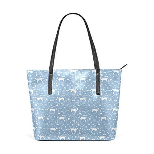 NR Multicolour Fashion Damen Handtaschen Schulterbeutel Umhängetaschen Damentaschen,Doodle Zeichnungen von Schalen Spuren Knochen Pinsel Kragen Silhouetten