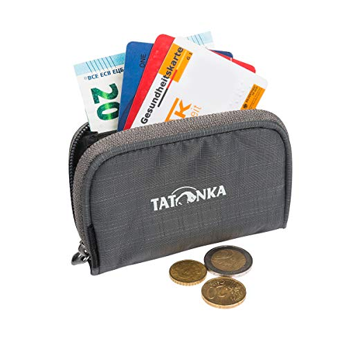 Tatonka Geldbörse Plain Wallet - Kleiner Geldbeutel mit Reißverschluss im Kreditkarten-Format - 11 x 7 x 2 cm - Damen und Herren - titan grey