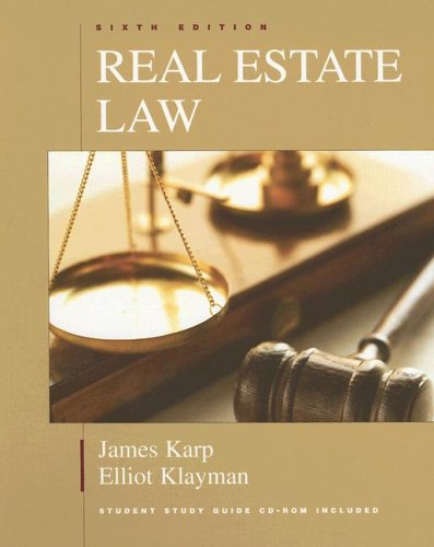 Real Estate Law, Sixth Edition