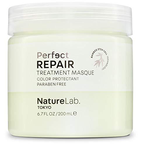 NatureLab Perfect Repair Treatment Hair Masque - Deep Conditioner for Dry + Damaged Hair - Bamboo Stem Cells, Keratin, Argan + Prickly Pear Oil Hydrating Hair Mask - Paraben-Free (6.7 fl oz/200 ml)