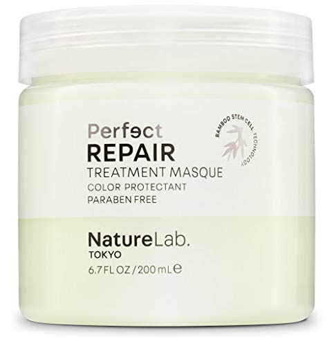 NatureLab Tokyo Perfect Repair Treatment Masque - Moisturizing Keratin Hair Mask, Deep Conditioning for Damaged or Color Treated Hair - Heat + Color Protectant (6.7 Ounce)