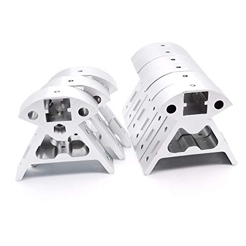 HUANRUOBAIHUO 9pcs/set Aluminum Frame Black/Sliver 3 Top+6 bottom Vertex 2020 All-metal profile for Kossel 3D Printer parts Reprap Corners Delta 3D Printer Parts (Size : Sliver)