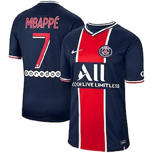 maillot Enfant Mbappé PSG 2021-Patch- Taille 10/12 Ans Soit 145 cm Environ Short Chaussettes modèle 2021 Répliqua Générique