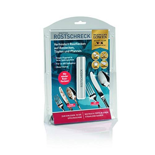 Rokitta's Rostschreck für die Spülmaschine | verhindert Rostflecken auf Besteck, Töpfen und Pfannen, für strahlend sauberes Geschirr | komplett ohne Chemie [aus: