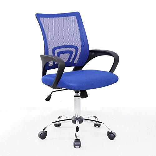 SVITA Kinder Schreibtischstuhl Bürostuhl Netzbezug Drehstuhl Stuhl Schreibtisch (Blau)