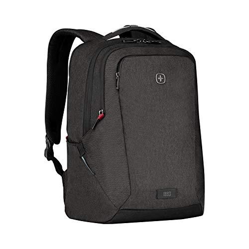 WENGER MX Professional Laptop-Rucksack, Notebook bis 16 Zoll, Tablet bis 10 Zoll, 21 l, Damen Herren, Business Uni Schule Reisen, Schwarz