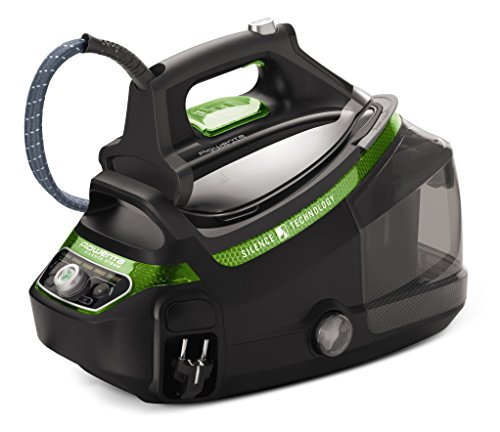 Rowenta DG8985F0 Silence Steam Extreme - Centro de planchado de 7,5 bares, autonomía ilimitada, golpe vapor 500 g/min, silencioso, recolector cal, suela Microsteam Laser 400 3D, calentamiento rápido
