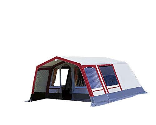 dwt Villa Steilwandzelt grau/rot Camping...