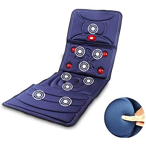 Lzour Massage Mat for Full Body, Back and Neck Massager Shiatsu Massage Seat Cushion with Heat Function,Car Seat Massage Cushion Vibration Pad