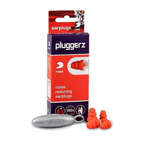 Pluggerz Road Uni-Fit oordopjes met uniek filter voor een demping van omgevingsgeluiden, geschikt voor motorrijders, bestelwagens, chauffeurs en motorsporters, gemaakt van zachte siliconen