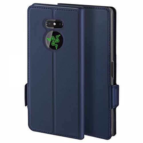 HoneyHülle für Handyhülle Razer Phone 2 Hülle Premium Leder Flip Schutzhülle für Razer Phone 2 Tasche, Blau