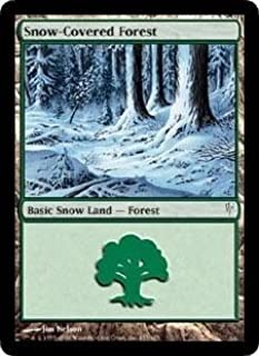 Snow-Covered Forest (Magic the Gathering : Coldsnap #155 Basic Land)