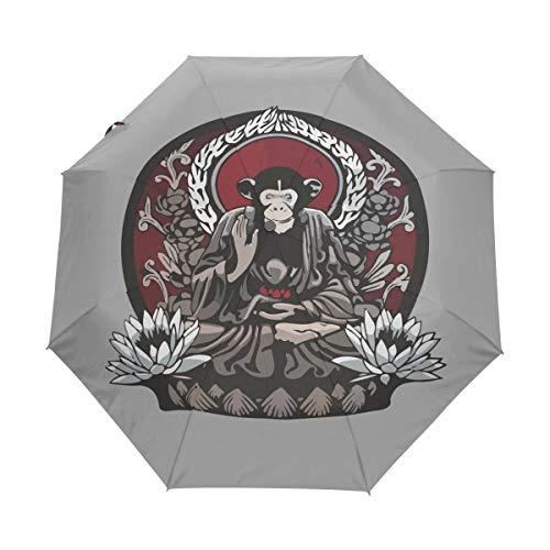 Trono Mono Animal Paraguas Plegable Hombre Automático Abrir y Cerrar Antiviento Protección...