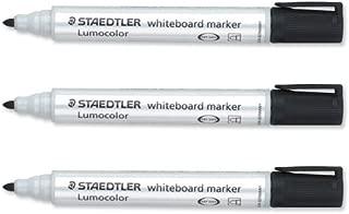 STAEDTLER Lumocolor Whiteboard Marker Dry-Safe Bullet Tip 2mm Line Black Ref 351-9 [Pack Of 10]