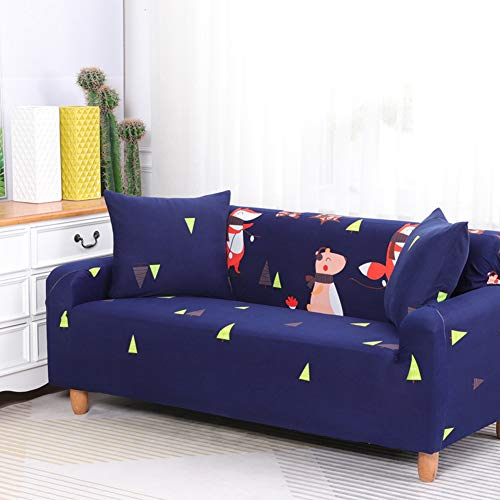 Sofa Slipover Stretch Non-slip Polyester cartoon pattern waterproof Sofa Protector universal Sofa cover for chair sofa Prevent scratches 1-4 seater 1 piece
