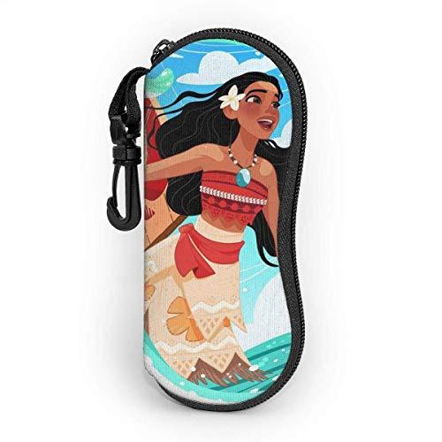 Estuche para anteojos Hdadwy, estuche para gafas de sol con cremallera de viaje portátil Moana, estuche para gafas de lectura, protector de bolsa