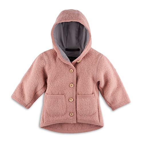 Halfen Walkjacke Baby (Made in Germany) – Bio Wollwalk Jacke für Mädchen und Jungen mit Kapuze, aus 100% Natur Schurwolle, Wolljacke Baby für Jede Jahreszeit, temperaturregulierend, Größe: 86 92