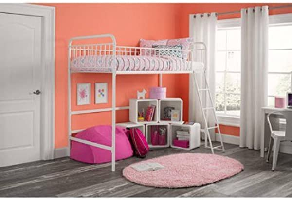 Better Homes And Gardens Kelsey Twin Metal Loft Bed Multiple Colors Twin White