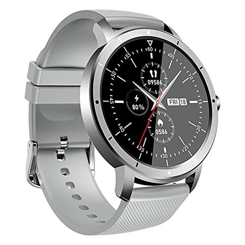 zyz The New HW21 Smart Watch para Hombres Y Mujeres 1.28 Pulgadas Pantalla Completa Impermeable Bluetooth Sleep Monitor Fitness Rasificación del Corazón Rastreador,Gris
