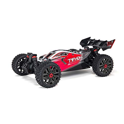 ARRMA 1/8 Typhon 4X4 V3 3S BLX Brushless Buggy RC Truck RTR (Transmitter and Receiver Included, Batteries and Charger Required), Red, ARA4306V3
