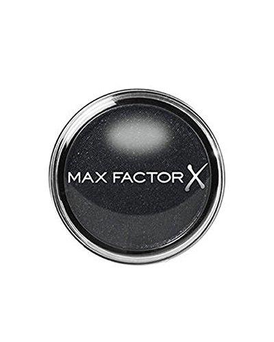 Max Factor Wild Shadow Pot Ferocious Black 10 – Schwarzer Puder-Lidschatten mit schimmerndem...