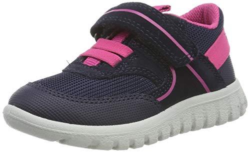 Superfit Baby Mädchen SPORT7 MINI-50619681 Sneaker, Grau (Blau/Rosa 81), 29 EU