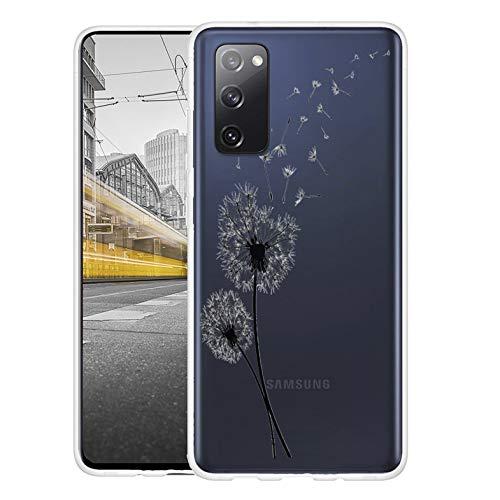 KX-Mobile Hülle für Samsung S20 FE Handyhülle Motiv 2461 Pusteblume Premium Silikonhülle durchsichtig mit Bild SchutzHülle Softcase HandyCover Handyhülle für Samsung Galaxy S20 FE Hülle