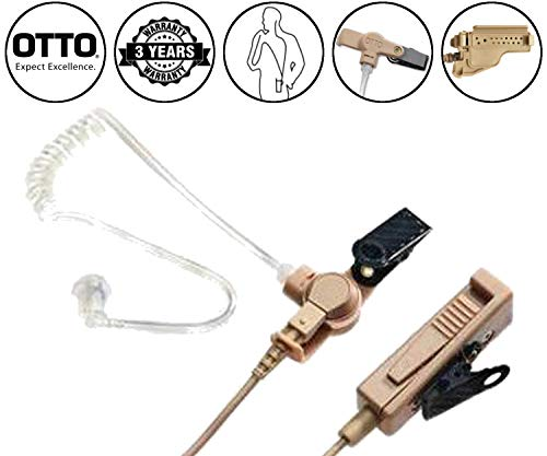 Lowest Price! OTTO V1-10171 Beige 2-Wire Earpiece for Motorola MTS2000 XTS2500 MTX8000 PM1500 Viking...